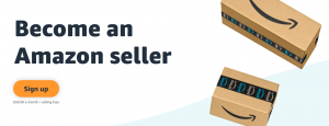 Register to become an Amazon seller