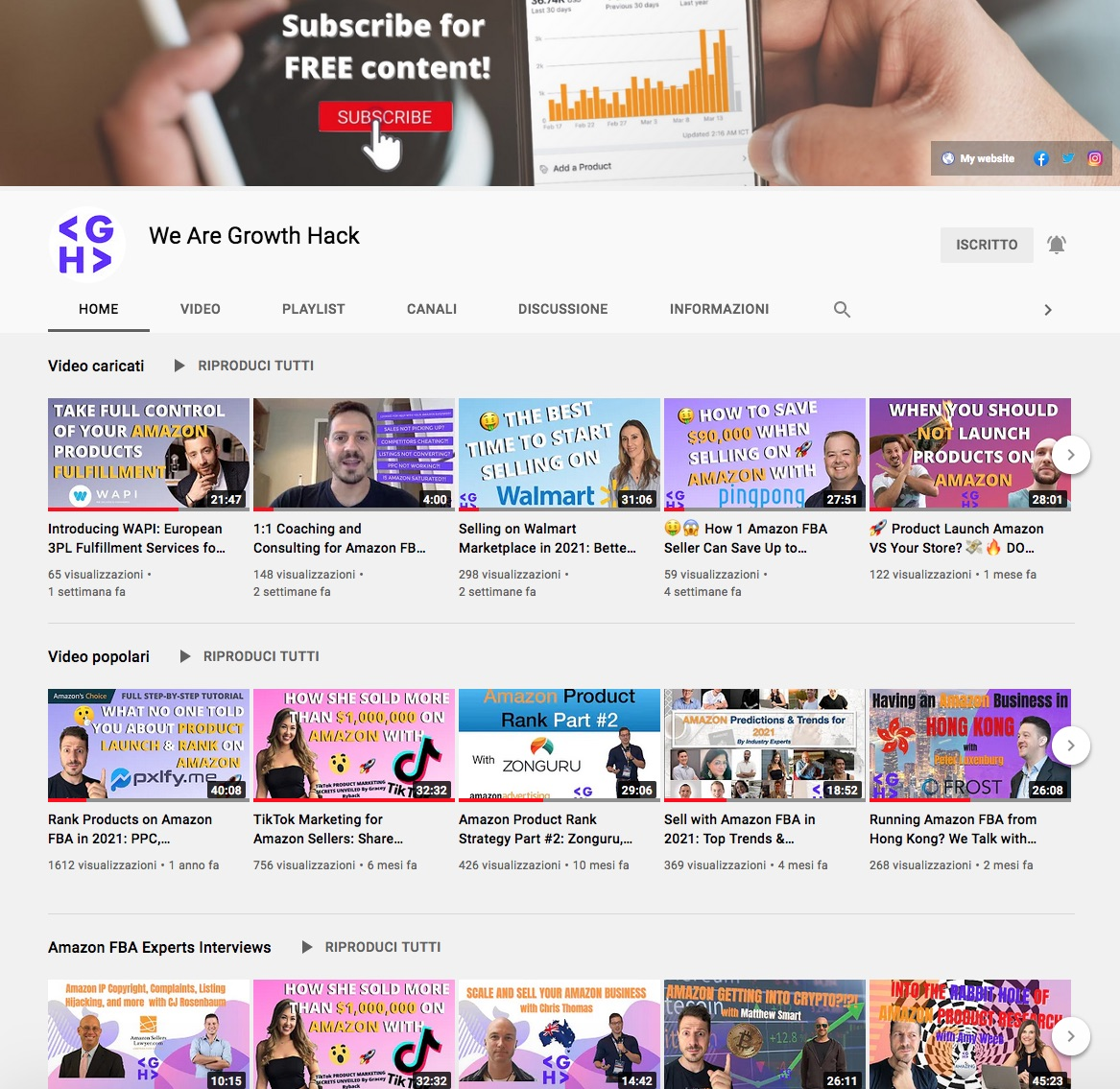 We Are Growth Hack on YouTube